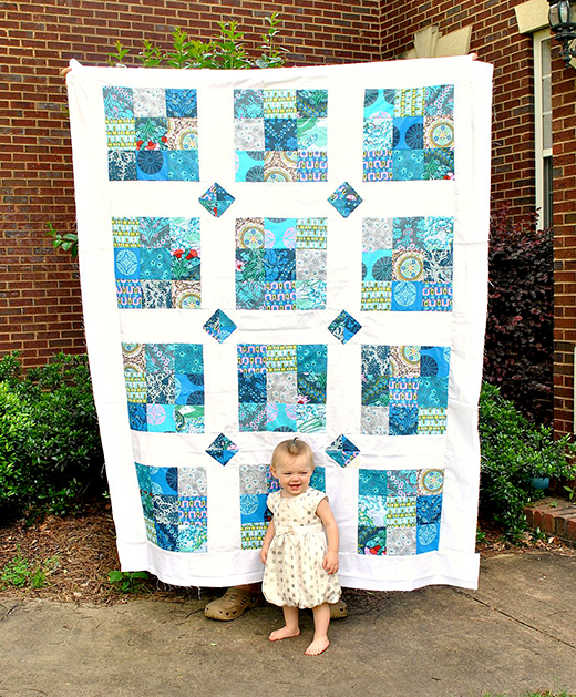 The Avery Quilt Free Tutorial designed quilted by Aubrey Marshall for Southern Fabric Blog