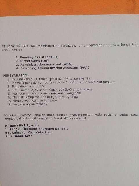 BNI Syariah Banda Aceh