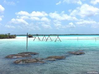 Bacalar, Cocalitos, lagune, Yucatan, Mexique