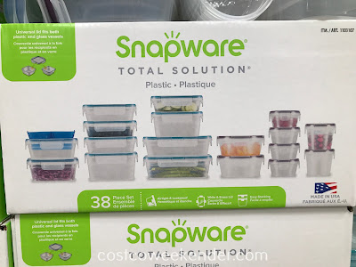 Store food and leftovers in the Snapware 38-piece Plastic Food Storage Set