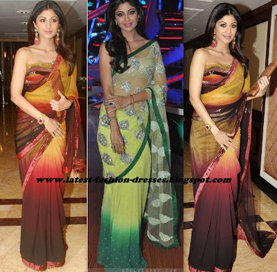 Bollywood actress shilpa shetty in designer saree
