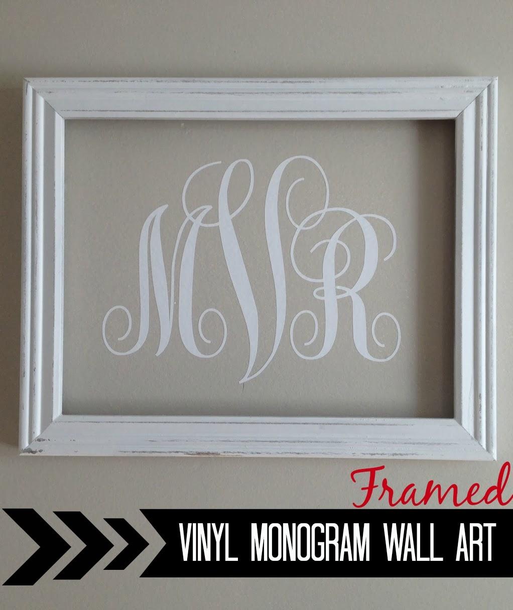 Silhouette Vinyl Monogram Wall Art Silhouette School