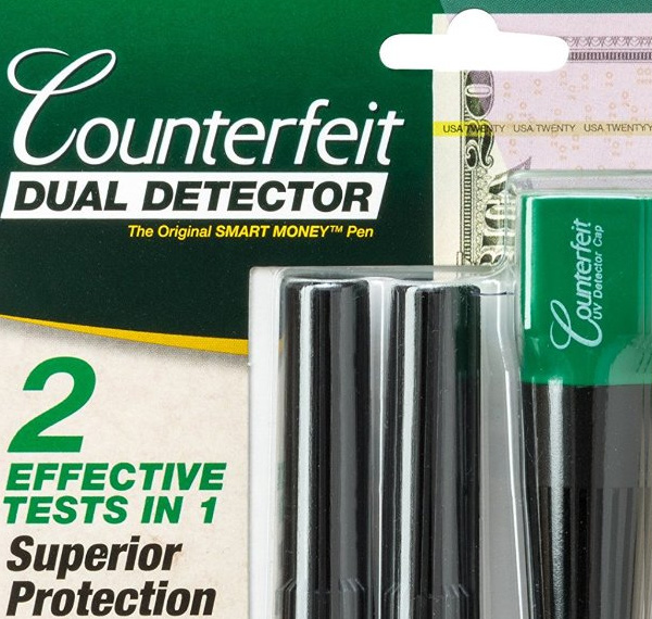 Counterfeit Detector Pen w/ UV Light + 2 FREE Pens