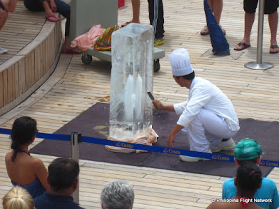 costa cruises ice carving