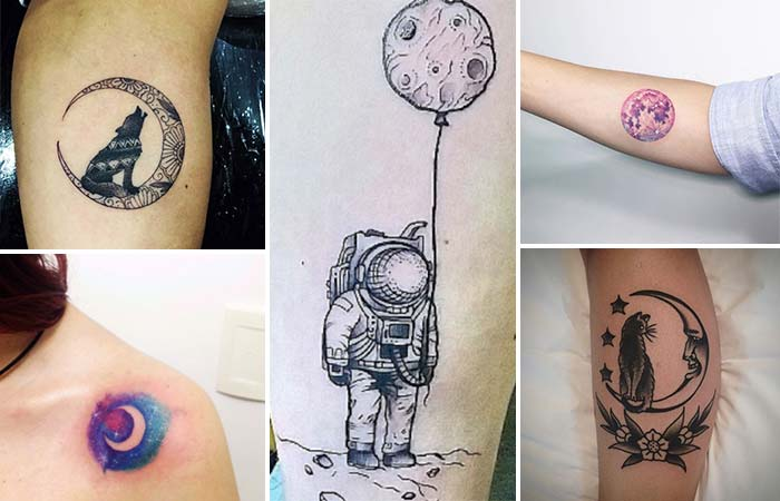 ay dövmesi modelleri moon tattoos designs