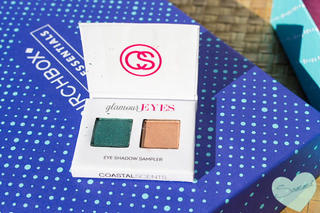 Coastal Scents styleEYES Eye Shadaow Sampler in glamourEYES - Birchbox: December 2015 Review Winter Essentials Unboxing and Review