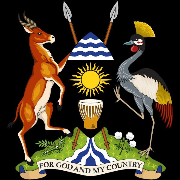 Logo Gambar Lambang Simbol Negara Uganda PNG JPG ukuran 600 px