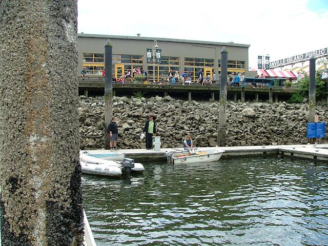 Dinghy dock at False Creek