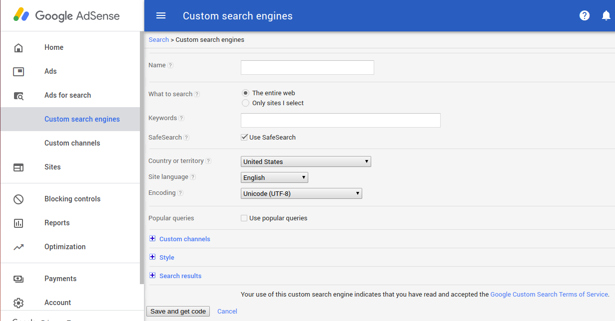 ADSENSE FOR SEARCH EXAMPLE | ALL OF THINGS