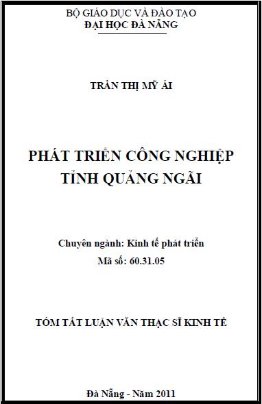Phát triển công nghiệp tỉnh Quảng Ngãi