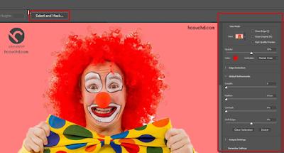 تطوير أداة تحديد + قناع (Select + Mask) في فوتوشوب cc 2018