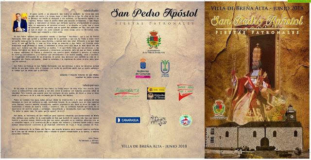 Programa de las Fiestas en Honor a San Pedro Apóstol 2018 en Breña Alta