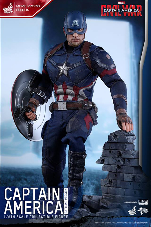 CA: Civil War - 1/6th scale Captain America (Battling Version)