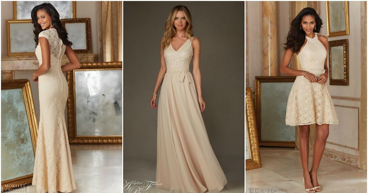 Latte bridesmaid dresses