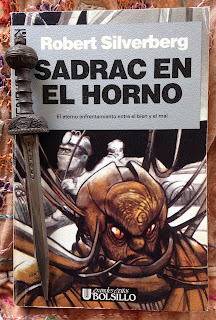 Portada del libro Sadrac en el horno, de Robert Silverberg