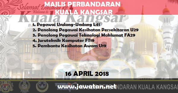 Jawatan Kosong di Majlis Perbandaran Kuala Kangsar
