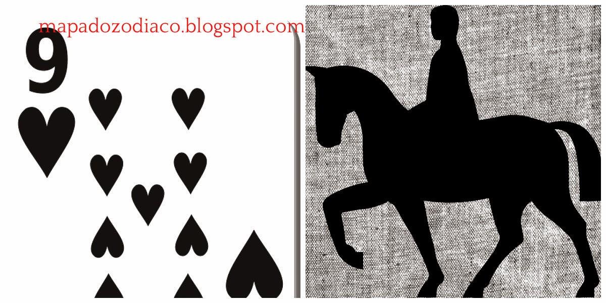 significado carta cigana lenormand cavaleiro 9 copas