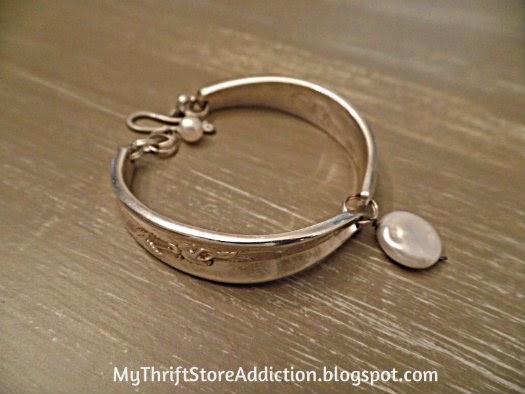 Vintage silverware bracelet