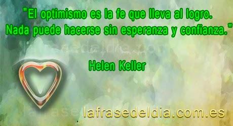 Mensajes de optimismo de Helen Keller