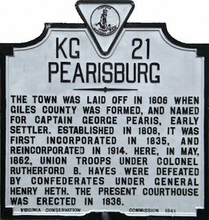 Landmarke KG 21: Pearisburg, Giles County, VA