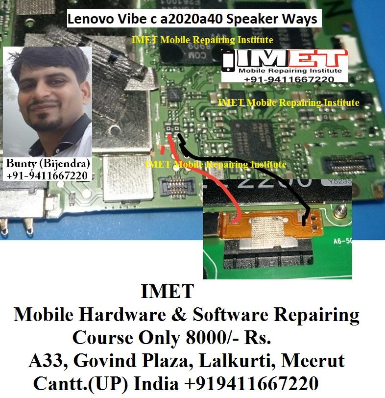 Lenovo Vibe c a2020a40 Speaker Ringer Problem Solution Jumper Ways