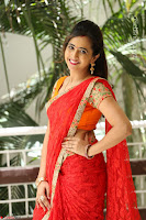 Lasya Cute Beauty in Saree Backless Choli at her Interview ~  Exclusive 088.JPG