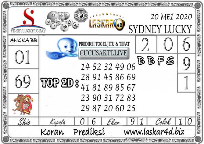 Prediksi Sydney Lucky Today LASKAR4D 20 MEI 2020