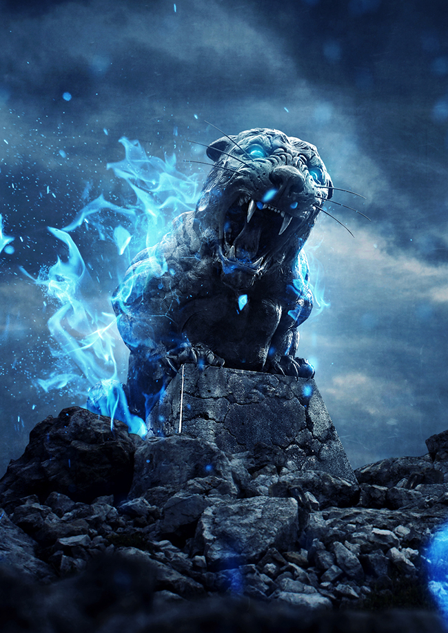 Tutorial_de_Photoshop_Tigre_de_Piedra_en_Llamas_by_Saltaalavista_Blog_Resultado_Final