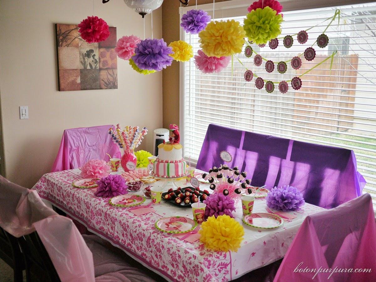 Imagenes fantasia y color como hacer rosetas de papel - Decoracion fiesta de cumpleanos infantil ...