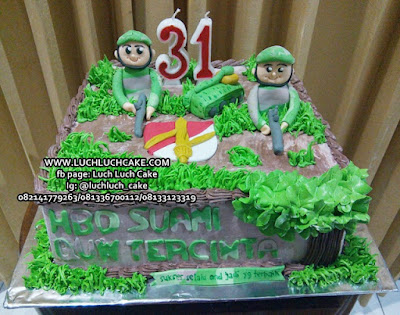 Kue Tart Ulang Tahun Tema Tentara Untuk Suami