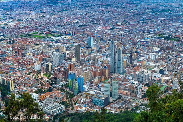 View of Bogota City from Monseratte Hill