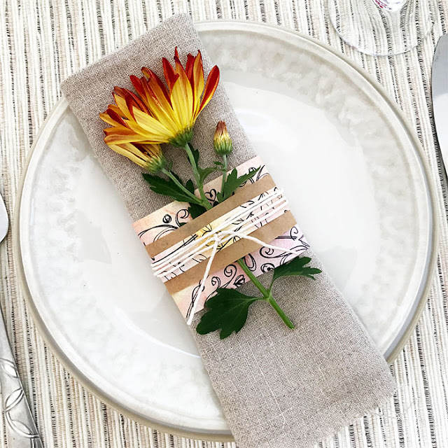 Easy paper & flower place settings