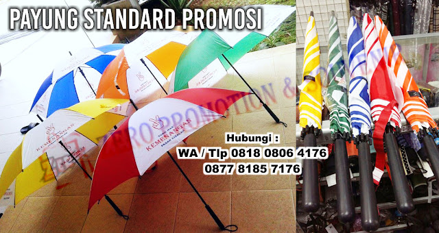 Produksi Payung Standar Promosi