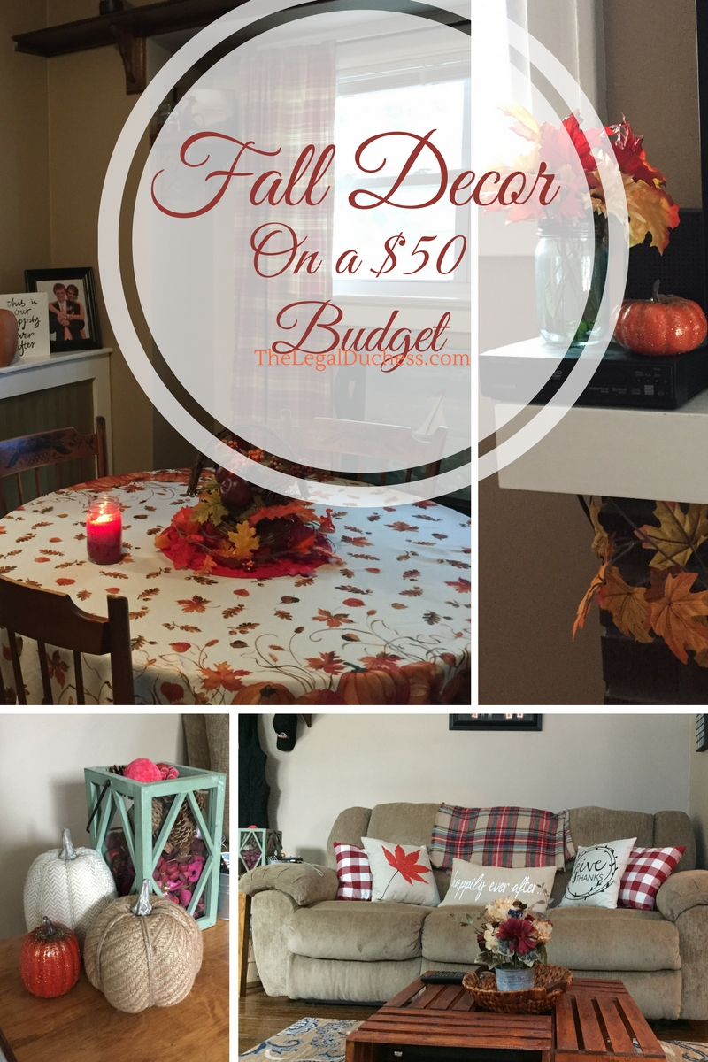 how to decorate for fall on a 50 budget the legal duchess. Black Bedroom Furniture Sets. Home Design Ideas