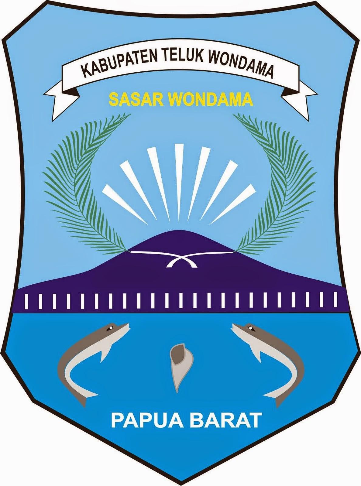Logo Kabupaten Kota Logo Kabupaten Teluk Wondama Papua Barat