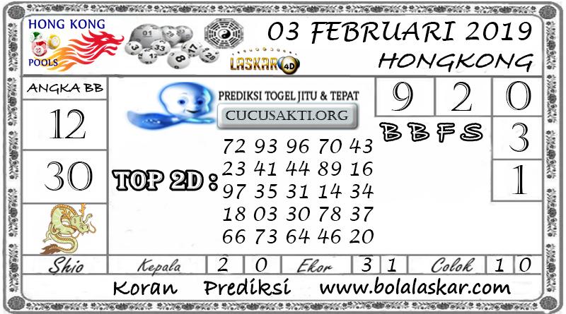 Prediksi Togel HONGKONG LASKAR4D 03 FEBRUARI 2019