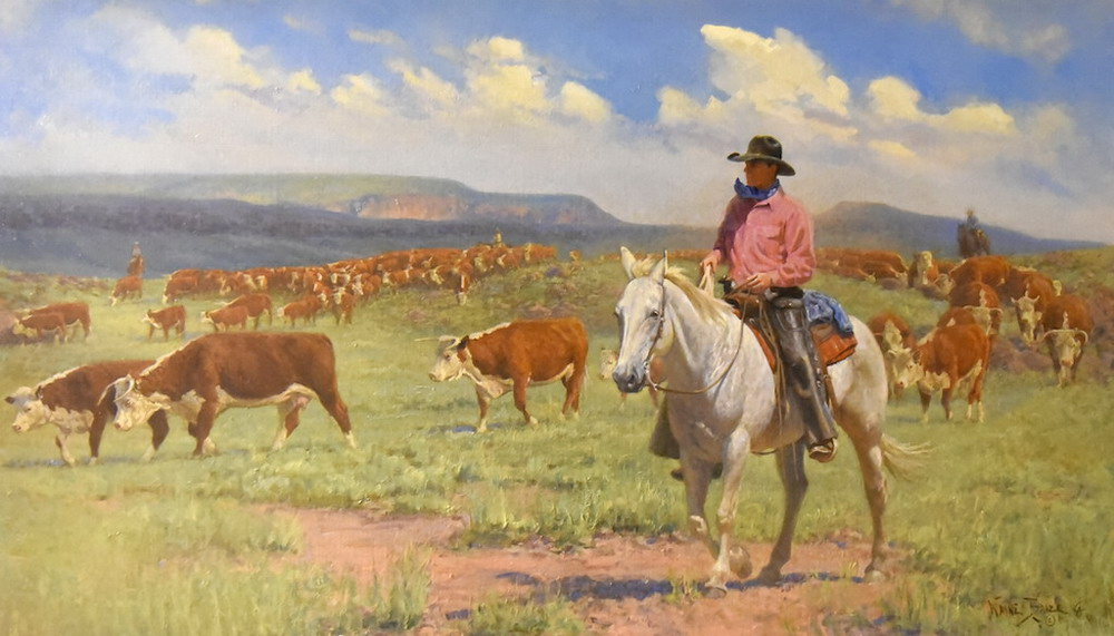Im genes arte pinturas im genes caballos y vaqueros pinturas de wayne baize - Cuadros de vacas ...
