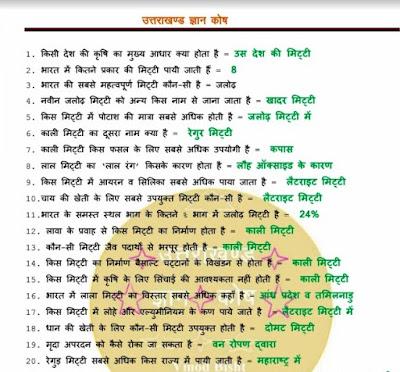 uttarakhand gk in hindi pdf free download
