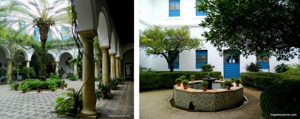 Pátios históricos no Palácio de Viana, em Córdoba