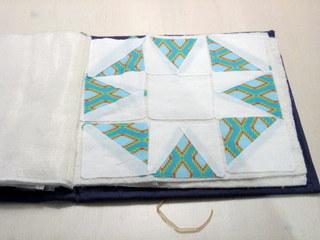 Lapjes om ster blok voor babyquilt van te naaien