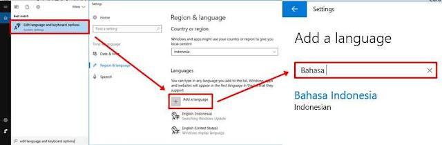 Cara Merubah Keyboard bahasa inggris menjadi bahasa indonesia di Windows 10