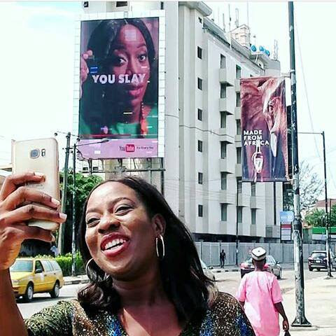 YOUTUBE VLOGGER SISI YEMMIE ON BILLBOARDS FOR YOUTUBE CAMPAIGN