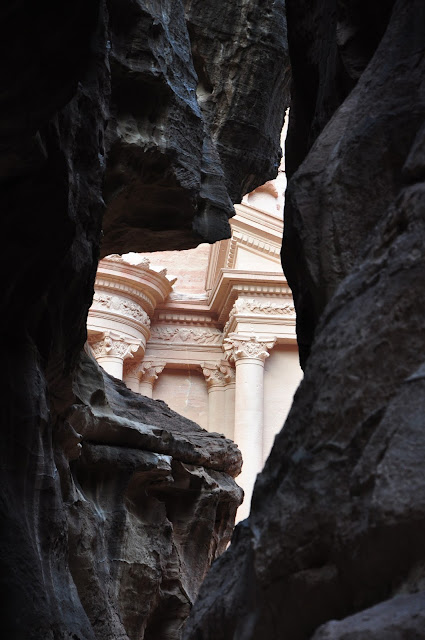 The Treasury, Petra, Jordan through the rock