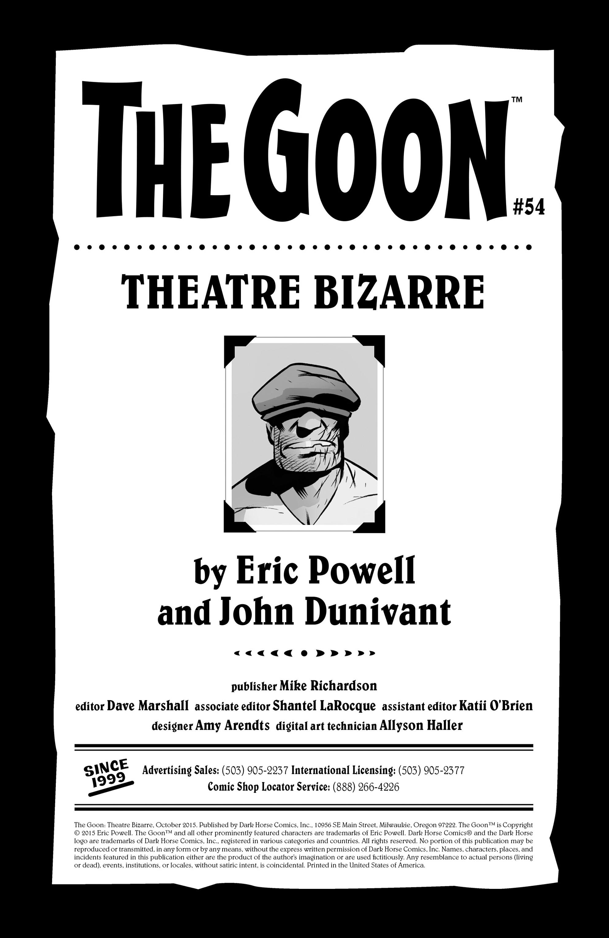 Read online The Goon: Theatre Bizarre comic -  Issue # Full - 2