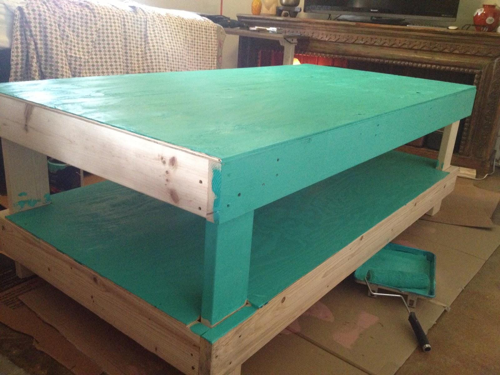Home Spun Aqua Bed Making Metal Roof Concrete Acid Stain