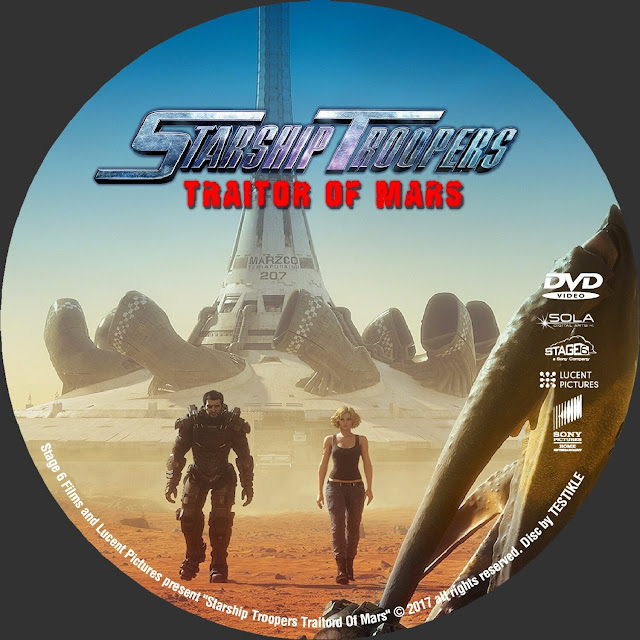 Starship Troopers: Traitor of Mars DVD Label
