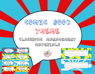 Comic Book Theme Classroom Management Materials! Perfect for guy teachers! | Apples to Applique