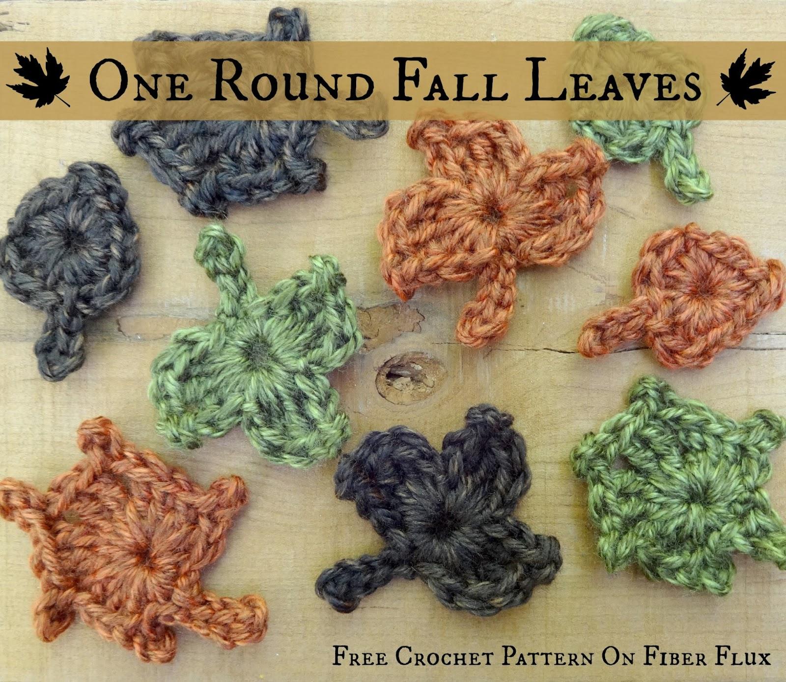 Fiber Flux: Free Crochet Pattern...One Round Fall Leaves!