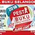 Pesta Buku Selangor 2019. Pusat Konvensyen Shah Alam. 28 Februari - 10 Mac 2019. 10 Pagi - 9 Malam (Isnin - Jumaat). 10 Pagi - 10.30 Malam (Sabtu dan Ahad)