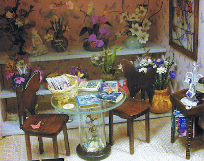 dollhouse miniature flower room